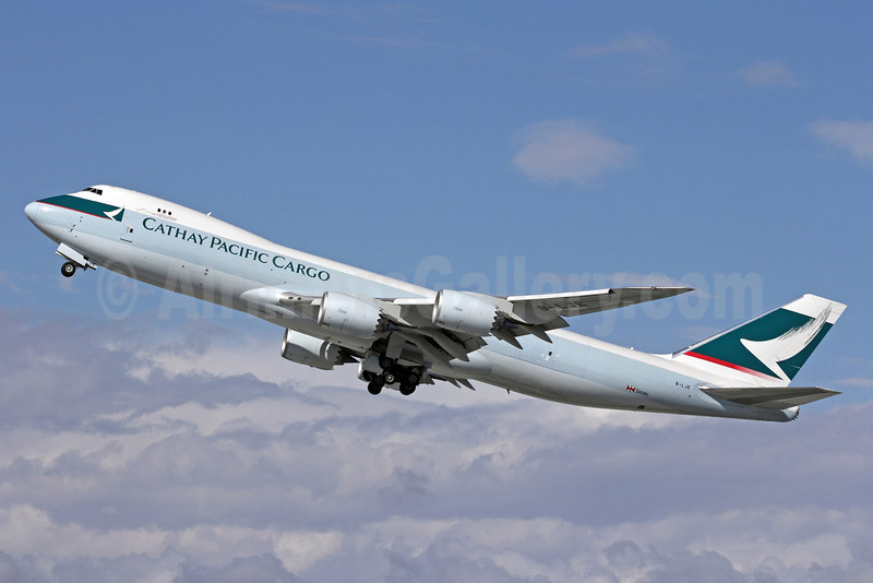 Cathay Pacific Airways Cargo Boeing 747-867F B-LJE (msn 39242) LAX (Michael B. Ing). Image: 909100.