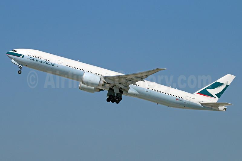 Cathay Pacific Airways Boeing 777-367 ER B-KQV (msn 41765) LAX (Michael B. Ing). Image: 930479.