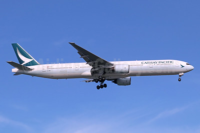 Cathay Pacific Airways Boeing 777-367 B-HNP (msn 34243) SIN (Michael B. Ing). Image: 939258.