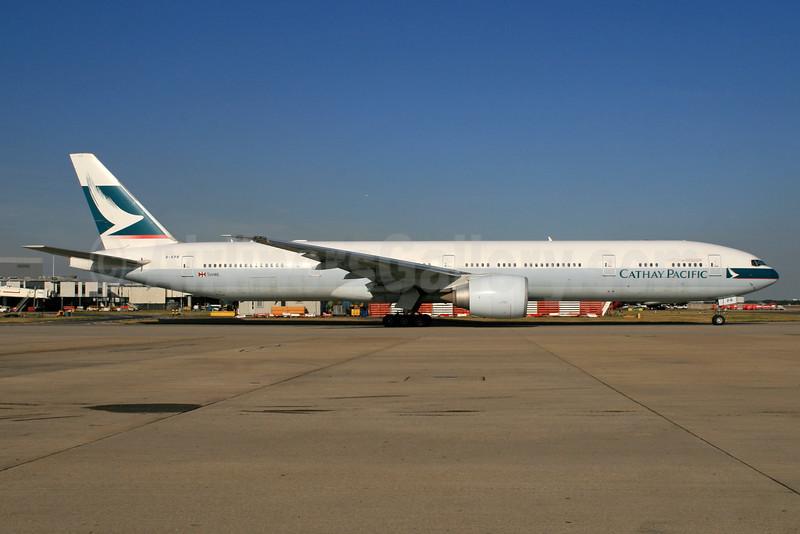 Cathay Pacific Airways Boeing 777-367 ER B-KPR (msn 36163) LHR. Image: (35986.