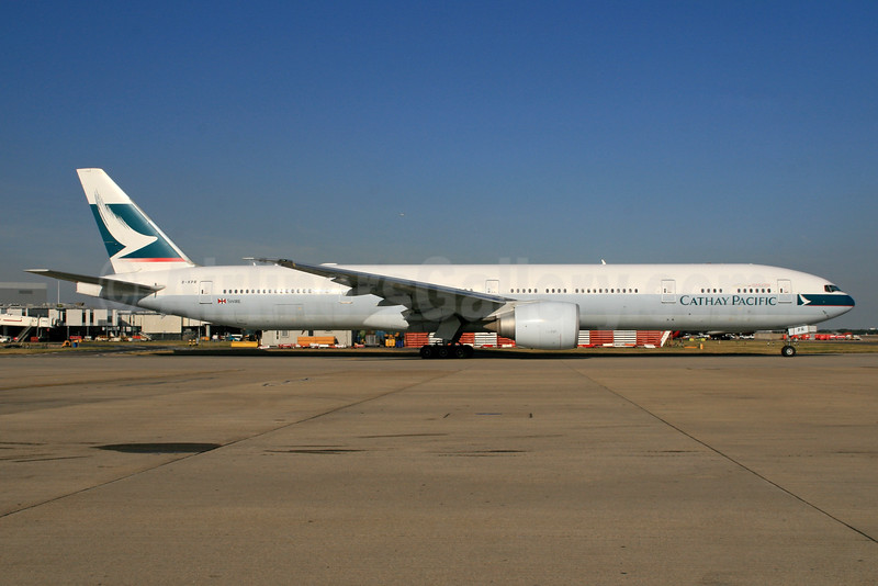 Cathay Pacific Airways Boeing 777-367 ER B-KPR (msn 36163) LHR. Image: (35986.