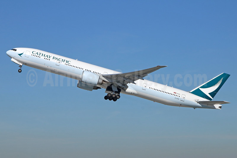 Cathay Pacific Airways Boeing 777-367 ER B-KPR (msn 36163) LAX (Michael B. Ing). Image: (35987.