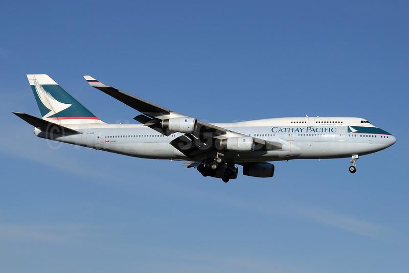 Cathay Pacific Airways Boeing 747-467 B-HUE (msn 27117) JNB (Paul Denton). Image: 911290.