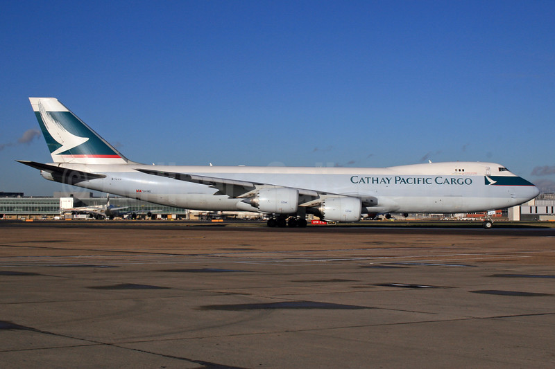 Cathay Pacific Airways Cargo Boeing 747-867F B-LJJ (msn 39246) LHR. Image: 926507.
