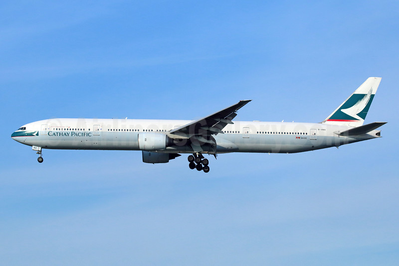 Cathay Pacific Airways Boeing 777-367 B-HNO (msn 33704) NRT (Michael B. Ing). Image: 935604.