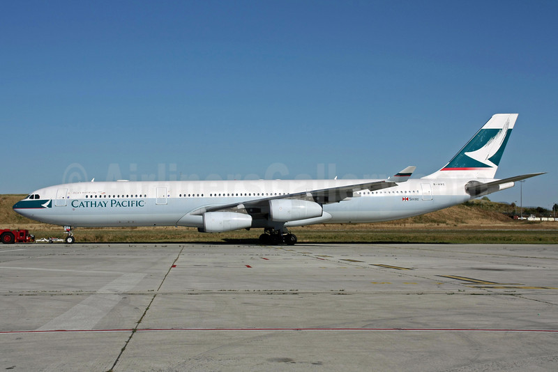 Cathay Pacific Airways Airbus A340-313 B-HXC (msn 142) CDG (Christian Volpati). Image: 905769.