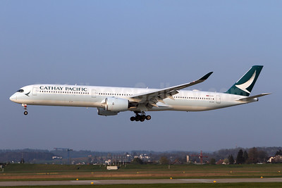Cathay Pacific Airways Airbus A350-1041 B-LXH (msn 258) ZRH (Andi Hiltl). Image: 946253.