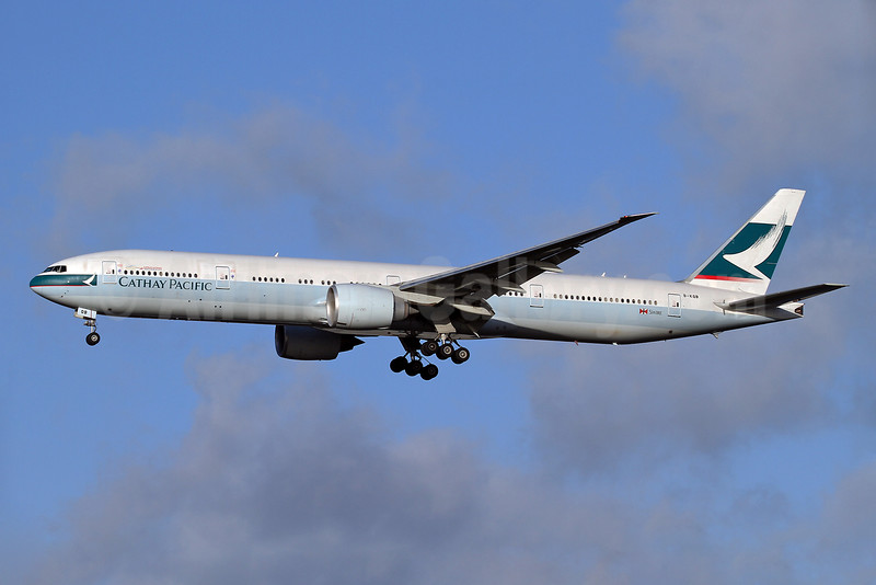 Cathay Pacific Airways Boeing 777-367 ER B-KQB (msn 39235) LHR (Keith Burton). Image: 928781.