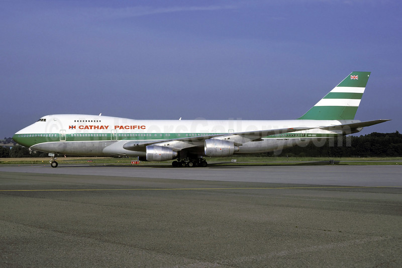Cathay Pacific Airways Boeing 747-267B VR-HIH (msn 23120) ZRH (Rolf Wallner). Image: 912791.
