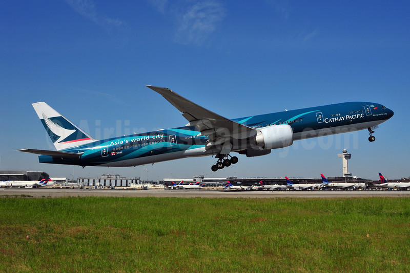 "Cathay Pacific's special Boeing 777 ""Hong Kong"" livery"