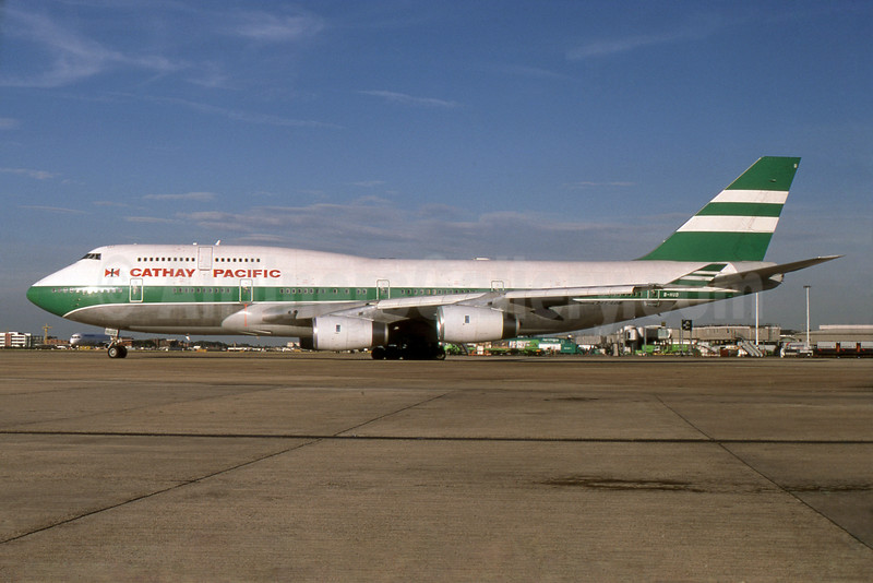 Cathay Pacific Airways Boeing 747-467 B-HUD (msn 25874) LHR (SPA). Image: 930856.
