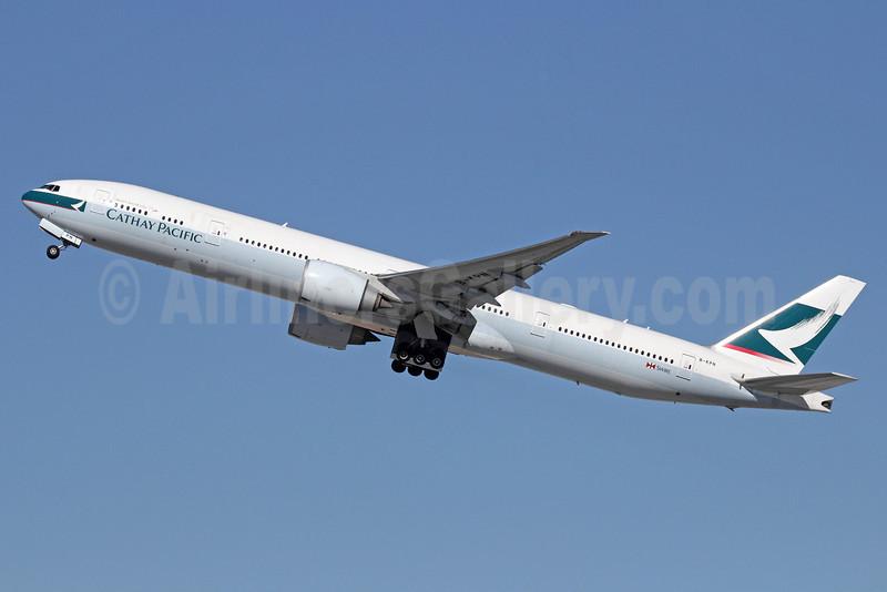 Cathay Pacific Airways Boeing 777-367 ER B-KPN (msn 36165) LAX (Michael B. Ing). Image: 911295.