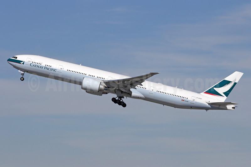 Cathay Pacific Airways Boeing 777-367 ER B-KPW (msn 39234) LAX (Michael B. Ing). Image: 913239.