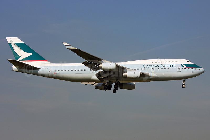 Cathay Pacific Airways Boeing 747-467 B-HOP (msn 23815) LHR (Keith Burton). Image: 901408.