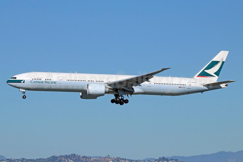Cathay Pacific Airways Boeing 777-367 ER B-KQJ (msn 41760) LAX (Michael B. Ing). Image: 932322.