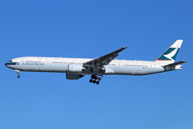 Cathay Pacific Airways Boeing 777-367 B-HNI (msn 27508) NRT (Michael B. Ing). Image: 932319.