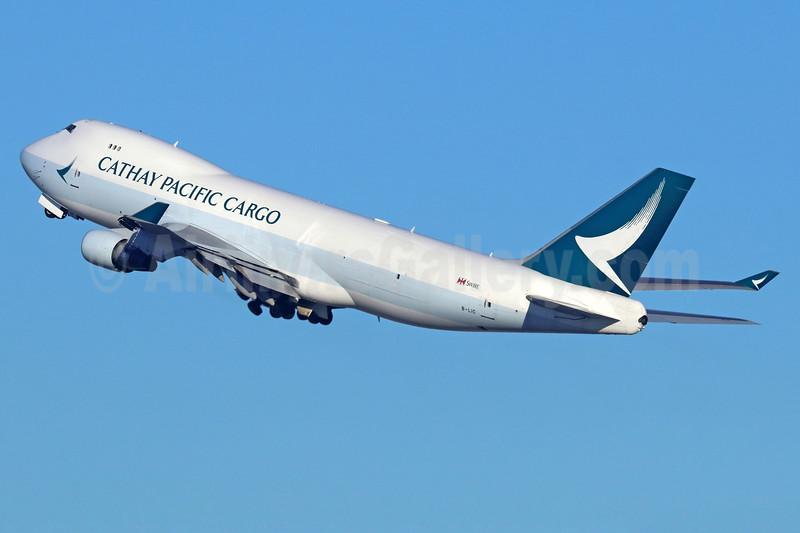 Cathay Pacific Airways Cargo Boeing 747-467 ERF B-LIC (msn 36868) LAX (Michael B. Ing). Image: 936923.