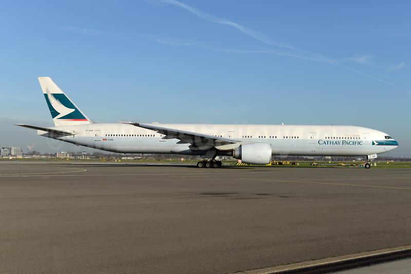 Cathay Pacific Airways Boeing 777-367 ER B-KQD (msn 39237) AMS (Ton Jochems). Image: 926107.