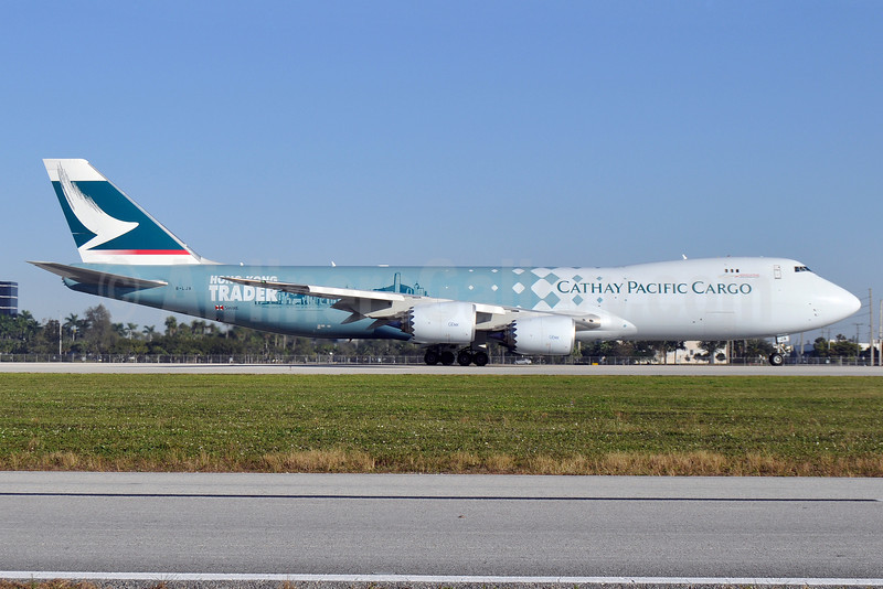 Cathay Pacific Airways Cargo Boeing 747-867F B-LJA (msn 39238) (Hong Kong Trader) MIA (Tony Storck). Image: 908455.