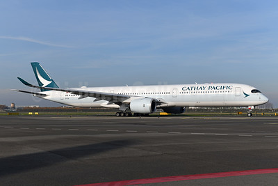 Cathay Pacific Airways Airbus A350-1041 B-LXG (msn 252) AMS (Ton Jochems). Image: 948502.