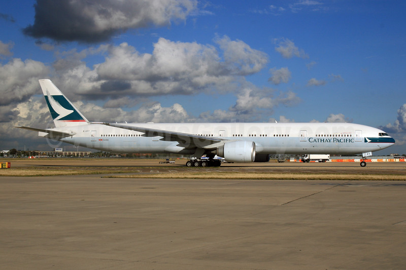 Cathay Pacific Airways Boeing 777-367 ER B-KPY (msn 37899) LHR. Image: 926106.