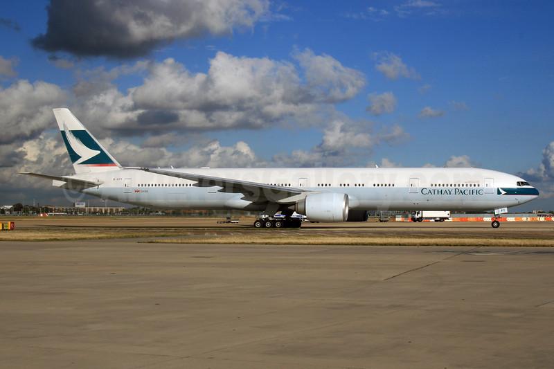 Cathay Pacific Airways Boeing 777-367 ER B-KPY (msn 37899) LHR. Image: 926106.