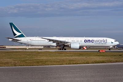 Cathay Pacific Airways Boeing 777-367 ER B-KQL (msn 41431) (Oneworld) YYZ (TMK Photography). Image: 948221.
