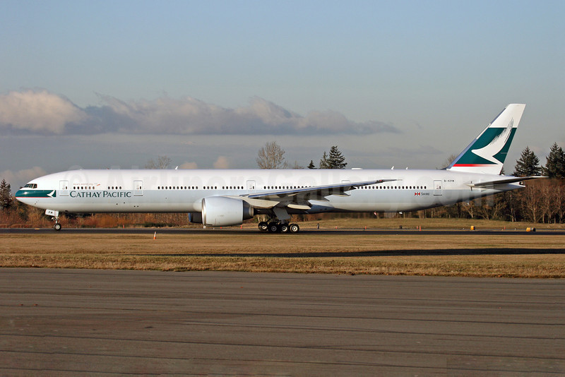 Cathay Pacific Airways Boeing 777-367 ER B-KPM (msn 36159) PAE (Nick Dean). Image: 904290.