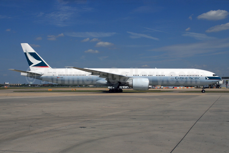 Cathay Pacific Airways Boeing 777-367 ER B-KPZ (msn 37900) LHR. Image: 928780.