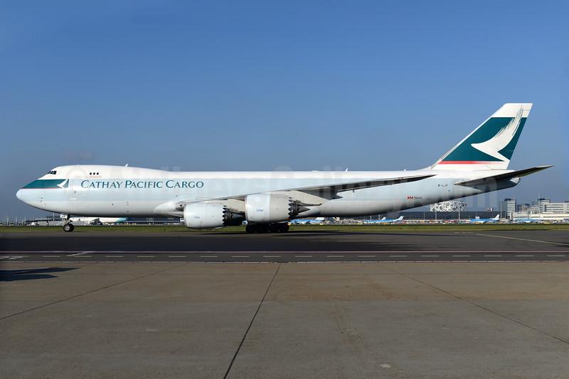 Cathay Pacific Airways Cargo Boeing 747-867F B-LJF (msn 39243) AMS (Ton Jochems). Image: 935566.
