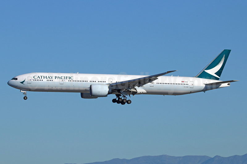 Cathay Pacific Airways Boeing 777-367 ER B-KPM (msn 36159) LAX (Michael B. Ing). Image: 931534.