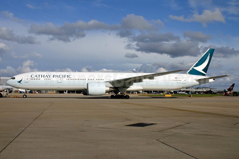 Cathay Pacific Airways Boeing 777-367 ER B-KPQ (msn 36162) LHR. Image: 932509.