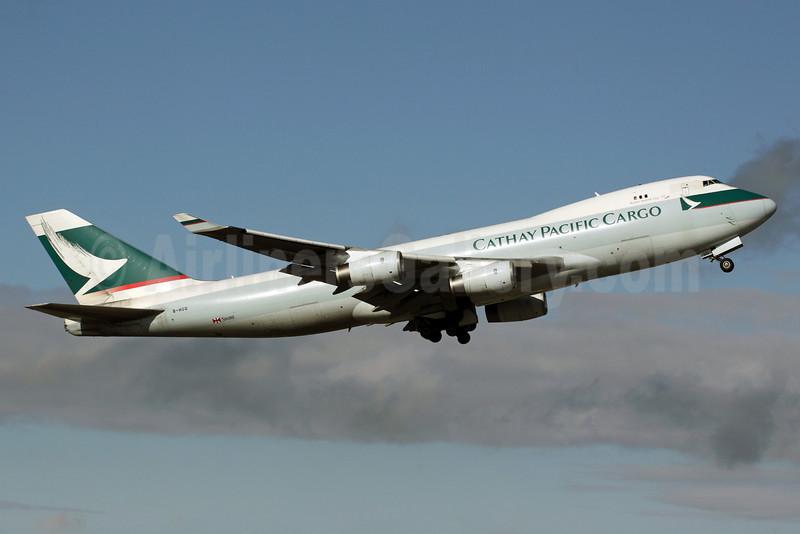 Cathay Pacific Airways Cargo Boeing 747-467F B-HUQ (msn 34150) ANC (Michael B. Ing). Image: 903523.