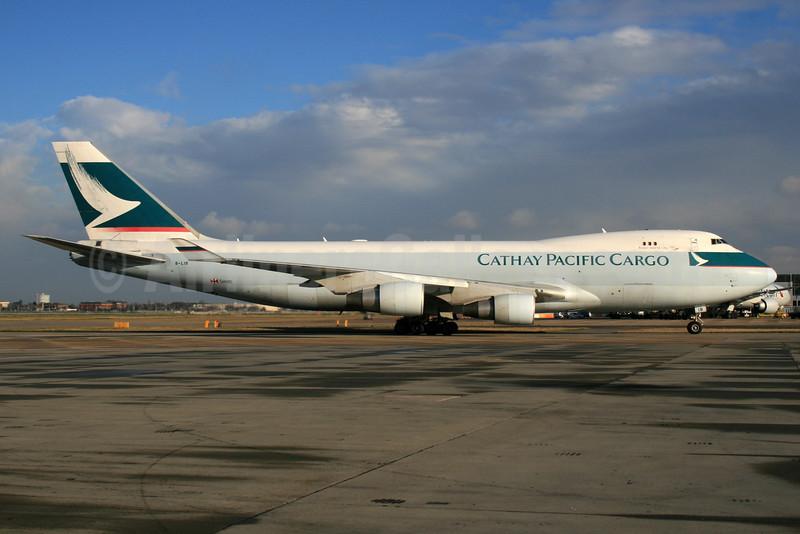 Cathay Pacific Airways Cargo Boeing 747-467 ERF B-LIB (msn 36867) LHR. Image: 935632.