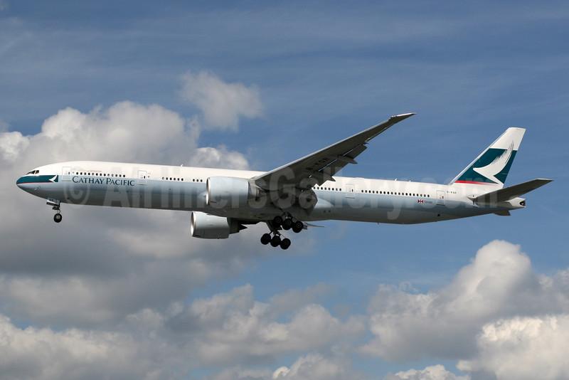 Cathay Pacific Airways Boeing 777-367 ER B-KQR (msn 41759) LHR (SPA). Image: 928006.