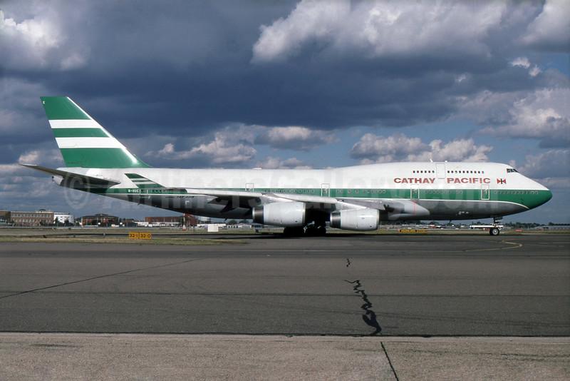 Cathay Pacific Airways Boeing 747-467 B-HUE (msn 27117) LHR. Image: 930857.