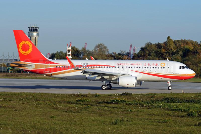 Chengdu Airlines Airbus A320-214 WL F-WWDA (B-8342) (msn 6830) XFW (Gerd Beilfuss). Image: 929880.