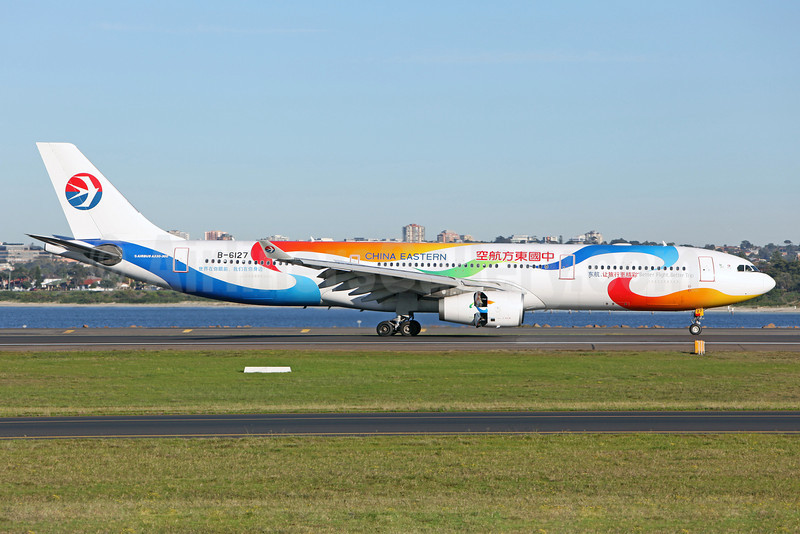 China Eastern Airlines Airbus A330-343 B-6127 (msn 781) (Better Flight, Better Trip) SYD (John Adlard). Image: 910687.