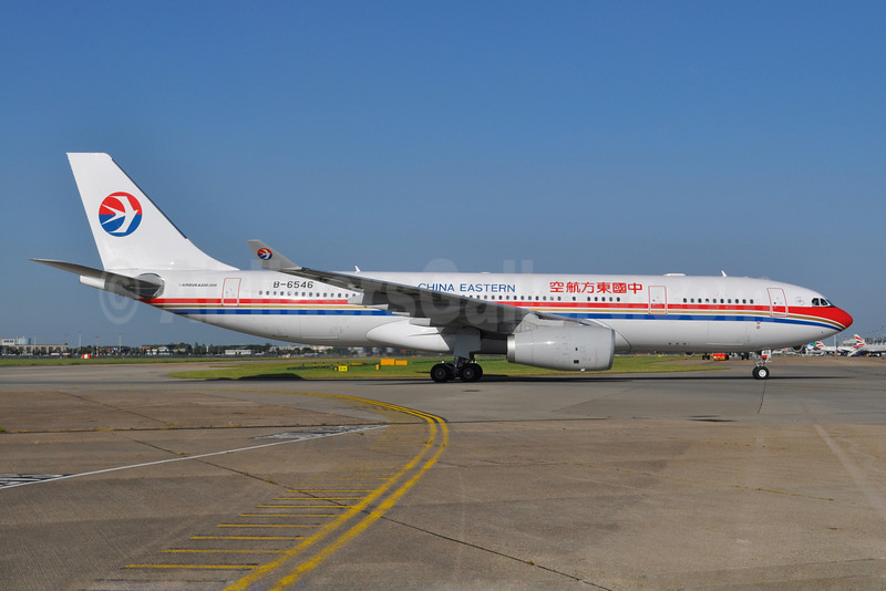 China Eastern Airlines Airbus A330-243 B-6546 (msn 1303) LHR (Dave Glendinning). Image: 909145.