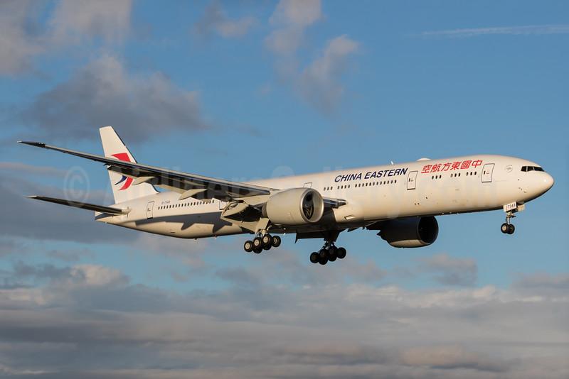 China Eastern Airlines Boeing 777-39P ER B-7343 (msn 43277) PAE (Brandon Farris). Image: 931596.