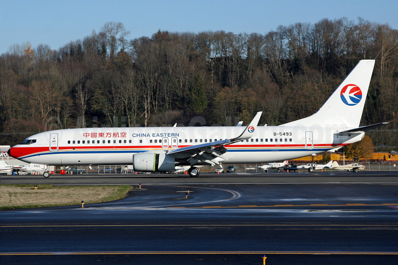 China Eastern Airlines Boeing 737-89P WL B-5493 (msn 29662) BFI (Nick Dean). Image: 904268.
