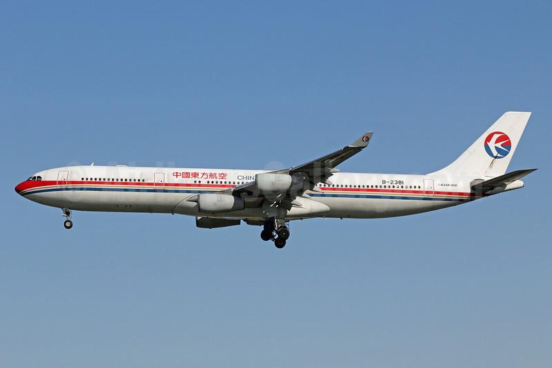 China Eastern Airlines Airbus A340-313 B-2381 (msn 131) PEK (Michael B. Ing). Image: 907467.