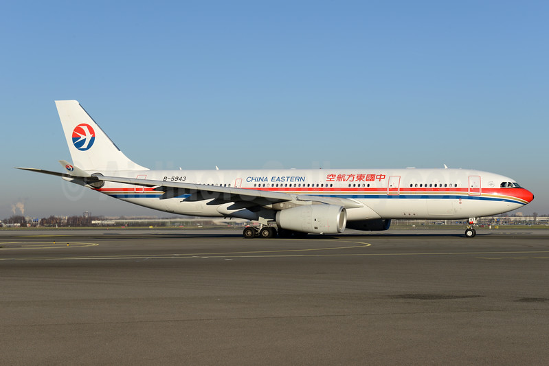 China Eastern Airlines Airbus A330-243 B-5943 (msn 1520) AMS (Ton Jochems). Image: 936195.
