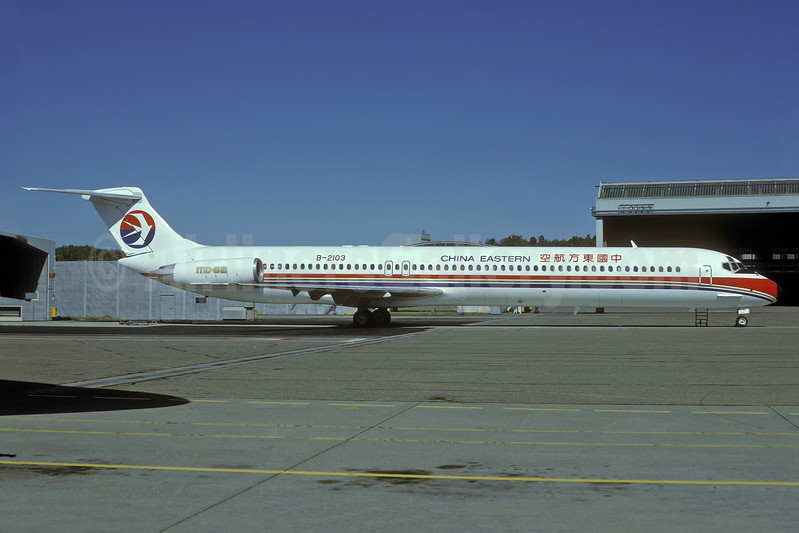 China Eastern Airlines McDonnell Douglas DC-9-82 (MD-82) B-2103 (msn 49355) ZRH (Rolf Wallner). Image: 938542.