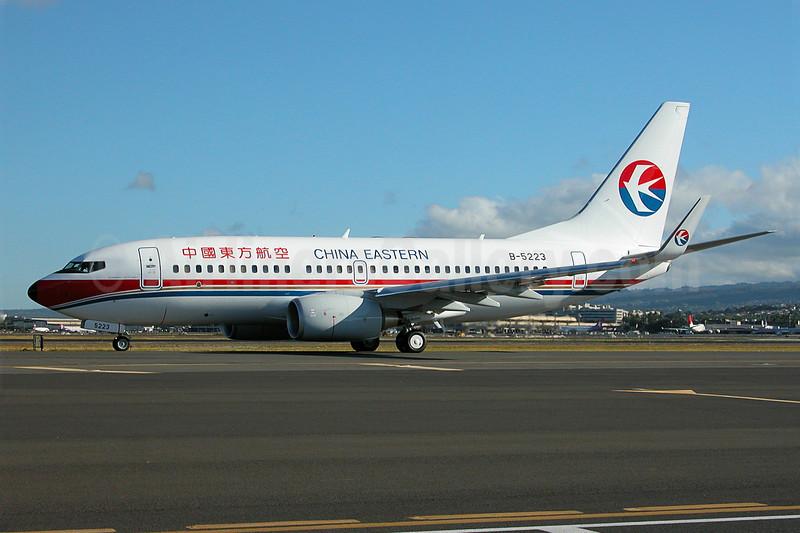 China Eastern Airlines Boeing 737-79P WL B-5223 (msn 33044) HNL (Ivan K. Nishimura). Image: 904777.