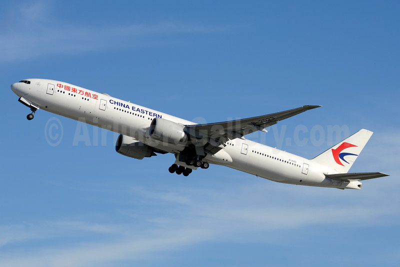 China Eastern Airlines Boeing 777-39P ER B-2023 (msn 43275) JFK (Jay Selman). Image: 403136.