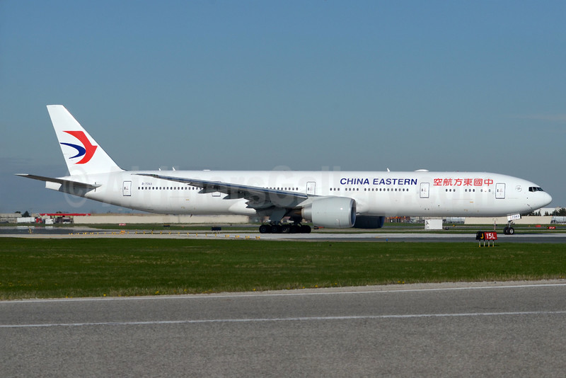 China Eastern Airlines Boeing 777-39P ER B-7343 (msn 43277) YYZ (TMK Photography). Image: 933188.