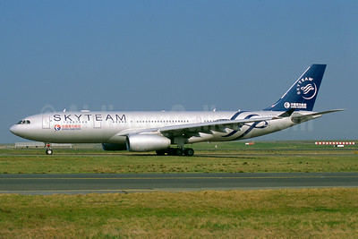 China Eastern Airlines Airbus A330-243 B-6538 (msn 1267) (SkyTeam) CDG (Jacques Guillem). Image: 934722.