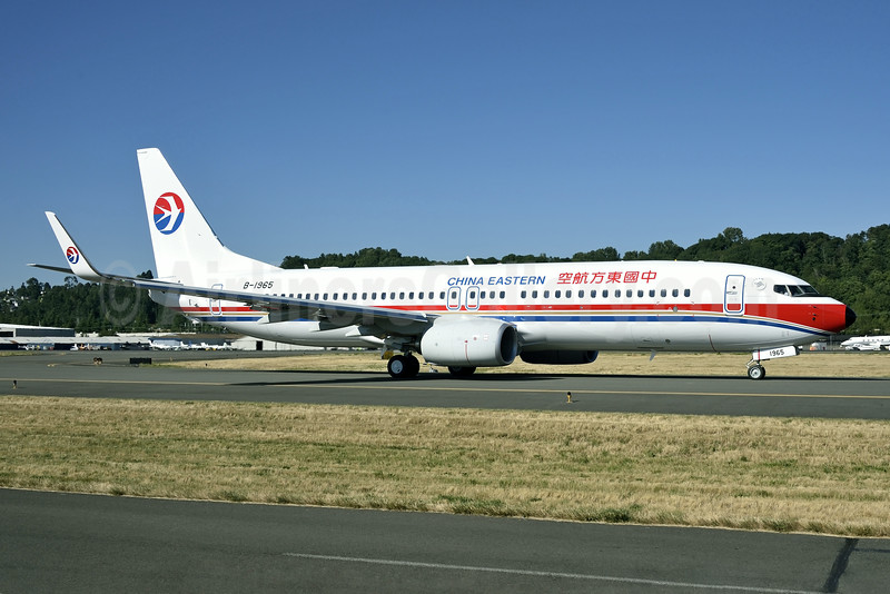 China Eastern Airlines Boeing 737-89P WL B-1965 (msn 41473) BFI (Steve Bailey). Image: 923822.