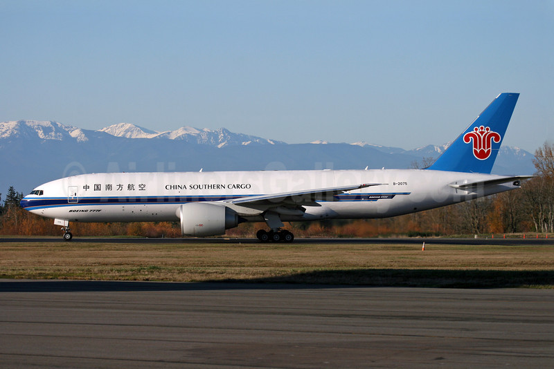 China Southern Airlines Cargo Boeing 777-F1B B-2075 (msn 37312) PAE (Nick Dean). Image: 904247.
